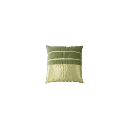 Tesco Velvet & Faux Silk Stripe Cushion , Green