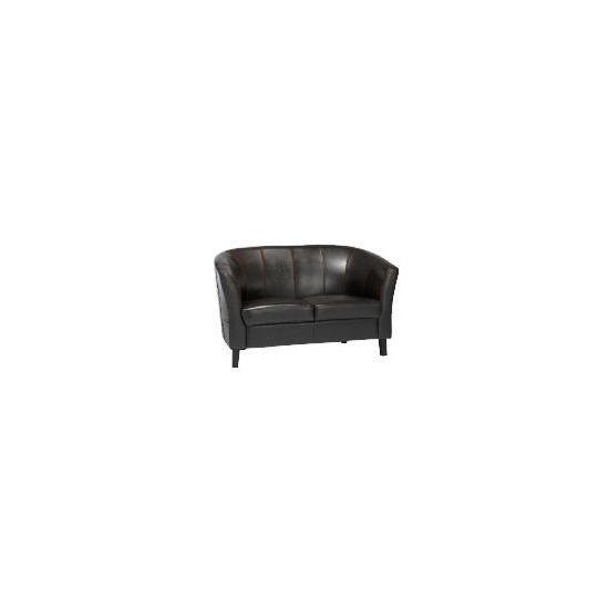 Greenwich Leather Sofa, Black