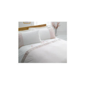 Photo of Tesco Ameile Luxury Embroidered Double Duvet Set, Pink Bed Linen