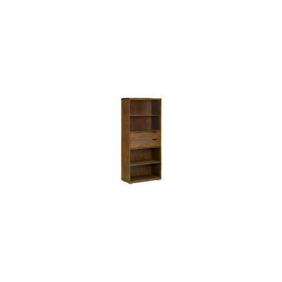 Seattle 2 drawer 4 shelf Storage, Walnut effect