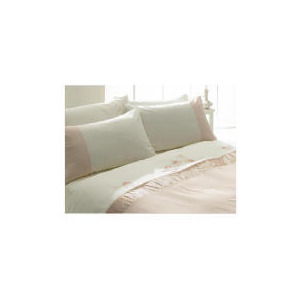 Photo of Tesco Ameile Luxury Embroidered Single Duvet Set, Pink Bed Linen
