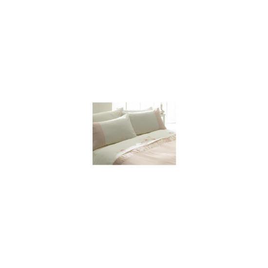 Tesco Ameile Luxury Embroidered Single Duvet Set, Pink