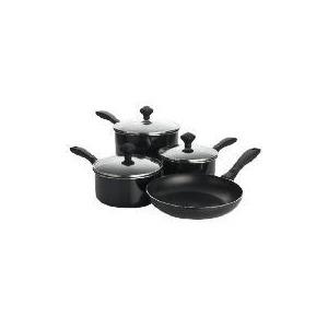 Photo of Prestige Urban 4 Piece Pan Set Black Cookware