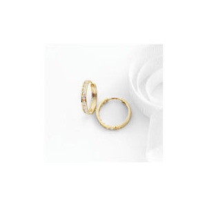 Photo of 9CT Gold Cubic Zirconia Hoop Earrings Jewellery Woman
