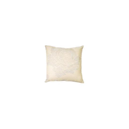 Tesco Rose Jaquard Cushion , Natural