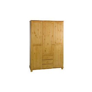 Photo of Vermont 3 Door 3 Drawer Wardrobe, Antique Pine Furniture