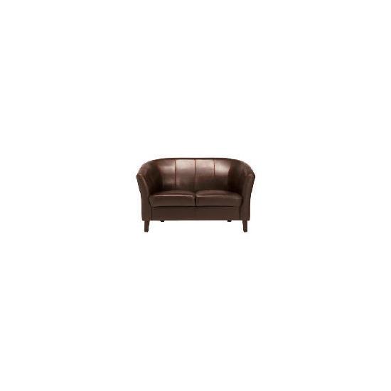 Greenwich Leather Sofa, Chocolate