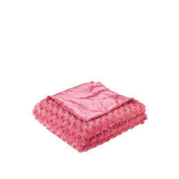 Tesco Kids Rose Fur Throw, Bright Pink Reviews