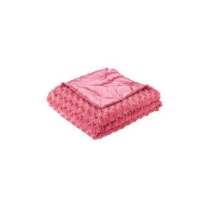 Photo of Tesco Kids Rose Fur Throw, Bright Pink Cushions and Throw