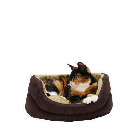 Oval faux suede bed 40cm Reviews