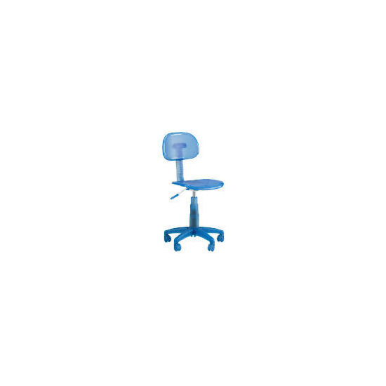 Sherbet Plastic Home Office Chair, Blue