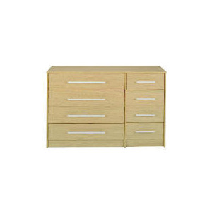 Photo of Brisbane 4 & 4 Drawer Chest, Light Oak Furniture
