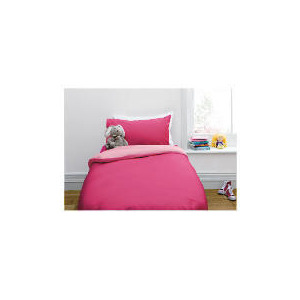 Photo of Tesco Kids Single Reversible Duvet Set, Pink Bed Linen