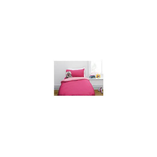 Tesco Kids Single Reversible Duvet Set, Pink