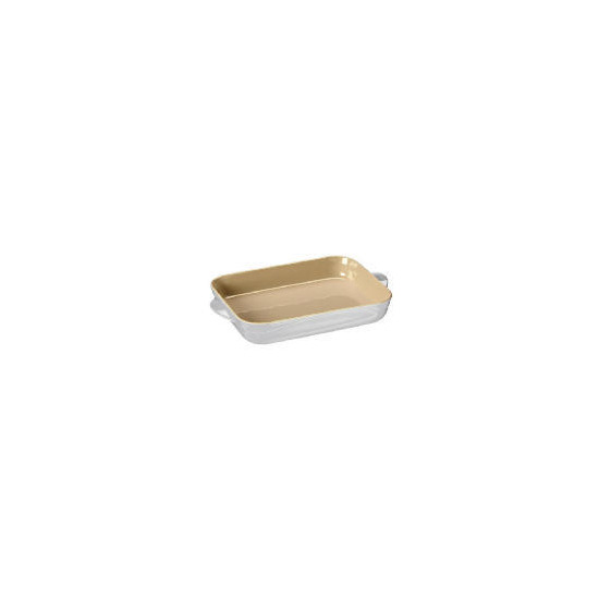 Le Creuset Curve stoneware 30cm rectangular baking dish colour Country Cream