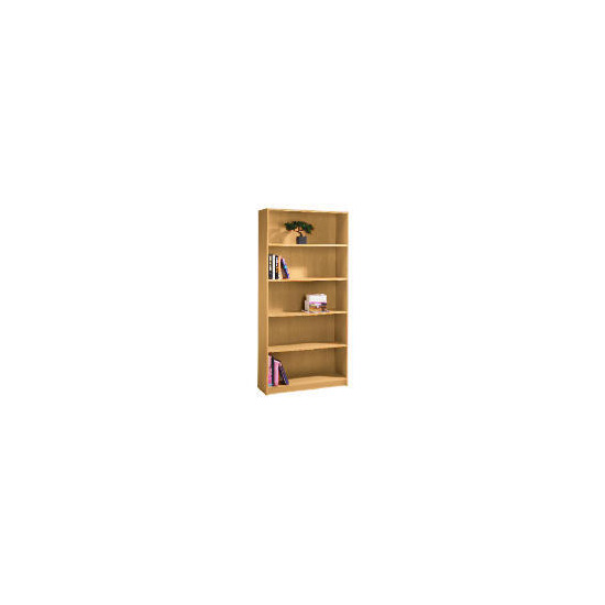 Value 5 shelf 80cm Bookcase, Oak effect