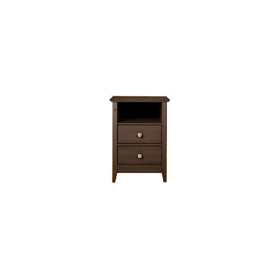 Fairhaven 2 drawer Bedside table, Chocolate