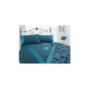 Photo of Tesco Applique Double Duvet Set, Teal Bed Linen