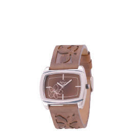 Kahuna ladies brown emmbossed strap floral watch Reviews