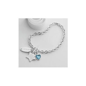 Photo of Me To YOU Sterling Silver Charm T-Bar Bracelet Jewellery Woman