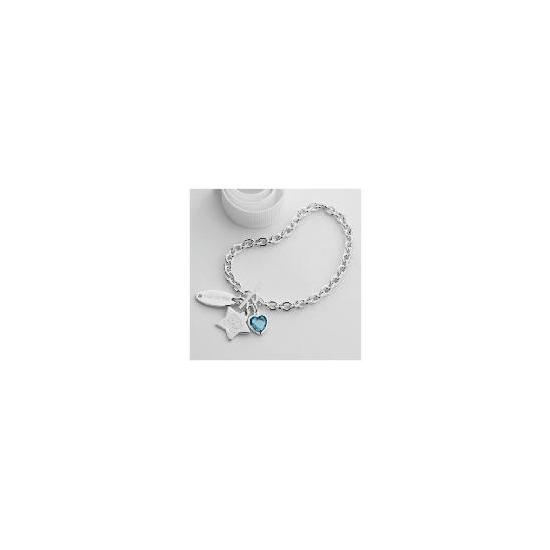 Me to you Sterling silver charm T-bar bracelet