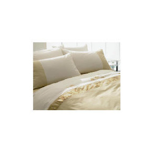 Photo of Tesco Ameile Luxury Embroidered Double Duvet Set, Gold Bed Linen