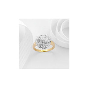 Photo of 9CT Gold Diamond 1/2 Carat Cluster Ring P Jewellery Woman