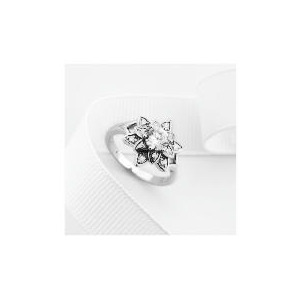 Photo of Sterling Silver Cubic Zirconia Ring, Small Jewellery Woman