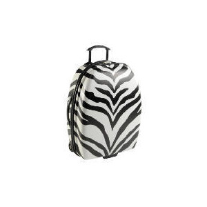 Photo of Constellation Zebra Print Small Trolley Case BLK / WHT Luggage