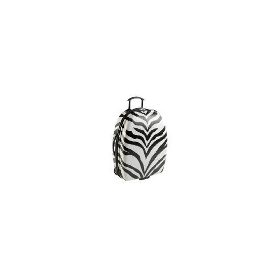 Constellation Zebra print Small Trolley Case Blk / wht