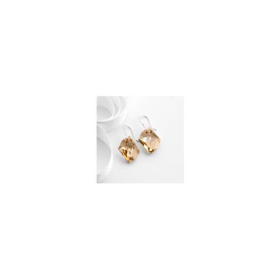 Sterling Silver Golden Shadow Swarovski Crystal Earrings