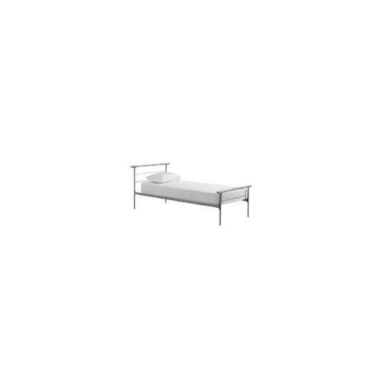 Cadiz Single Bed, Silver Finish