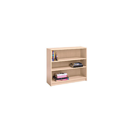 Value 3 shelf 80cm Bookcase, Maple effect