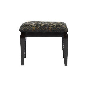 Photo of Chatsworth Damask Stool - Black Furniture