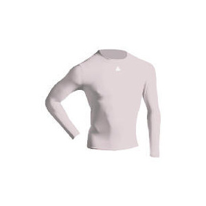 Photo of Long Sleeve Bodyshirt Mock Neck (WHITE Adult Medium) Sports and Health Equipment
