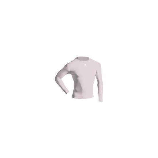 Long Sleeve Bodyshirt Mock Neck (WHITE adult medium)
