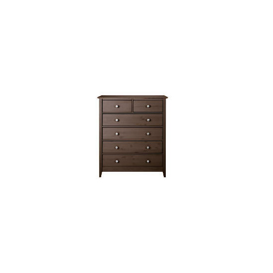 Fairhaven 4 & 2 drawer chest, Chocolate