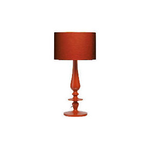 Photo of High Gloss Spindle Table Lamp, Red Lighting