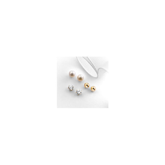 9ct Gold Set of 3 Earrings
