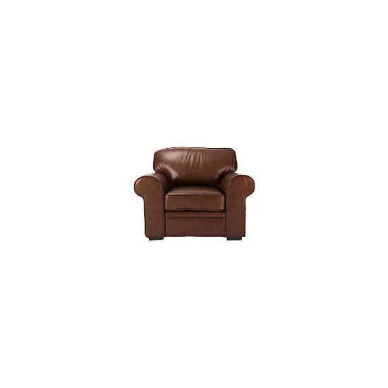 York Leather Armchair, Chocolate