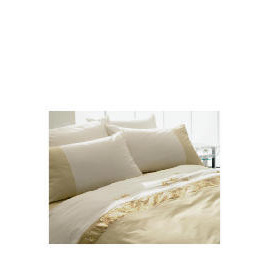 Tesco Ameile Luxury Embroidered King Duvet Set, Gold Reviews