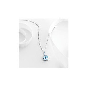 Photo of 9CT White Gold Blue Topaz Pendant Jewellery Woman