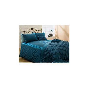 Photo of Tesco Applique King Duvet Set, Teal Bed Linen