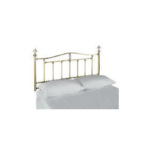 Photo of BURGHLEY King Headboard, Antique Brass Finish Bedding