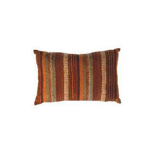 Photo of Tesco Striped Stab Stitch Cushion , Cinnamon Cushions and Throw