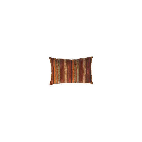 Tesco Striped Stab Stitch Cushion , Cinnamon