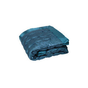 Photo of Tesco Satin Bedspread Double/ King, Teal 200X220CM Bed Linen