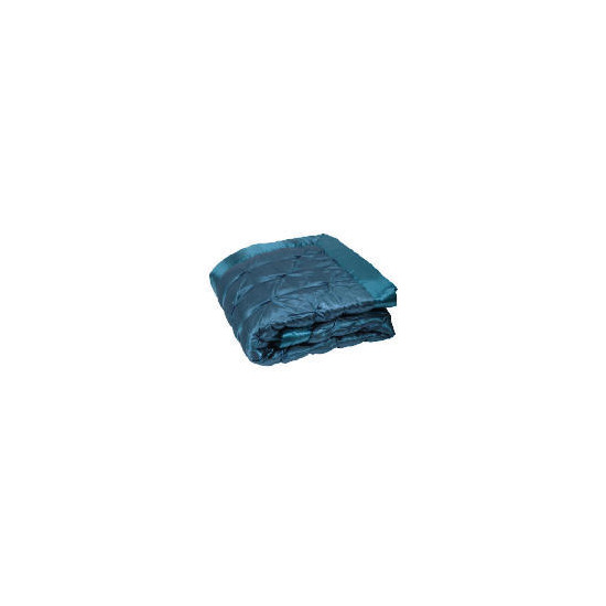 Tesco Satin Bedspread Double/ King, Teal 200x220cm