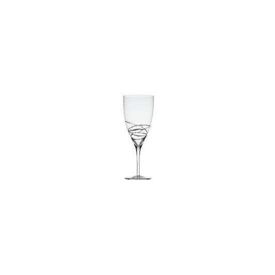 Black drizzle wine glass 4 pack