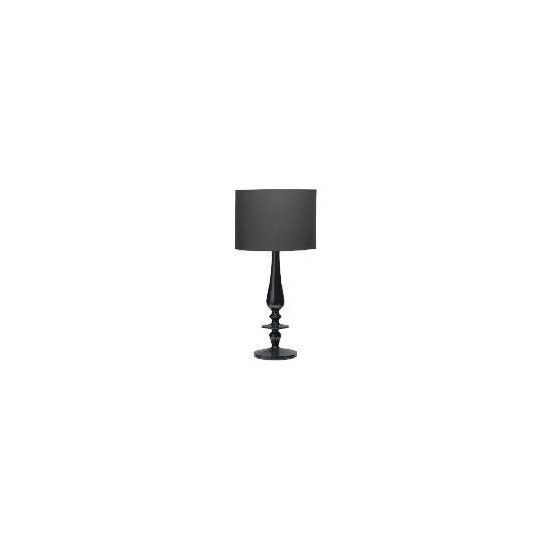 High Gloss Spindle Table Lamp, Black